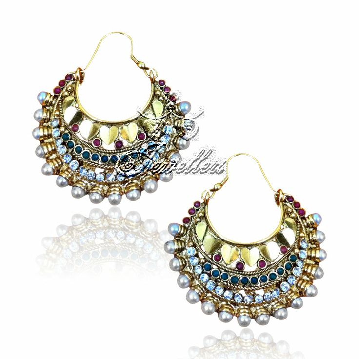 Traditional polki earrings. Beautiful and unique in design. https://www.facebook.com/pages/LF-Jewellers/423983984326803
