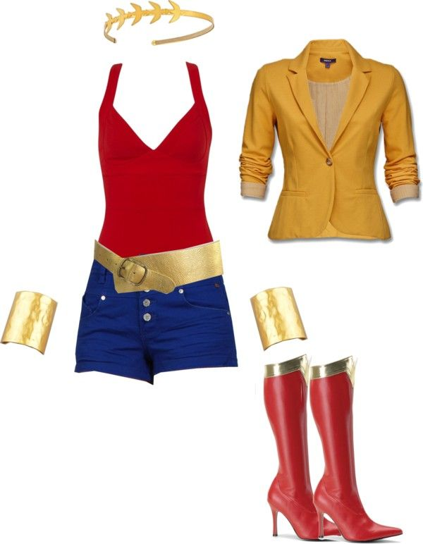 """Wonder Woman outfit"" by katie-lane1013 on Polyvore"