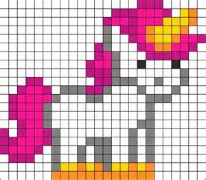 Minecraft Unicorn Pixel Art Template Pinterest • the world's catalog ...