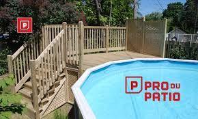 Résultats de recherche d'images pour « deck piscine hors terre plan »
