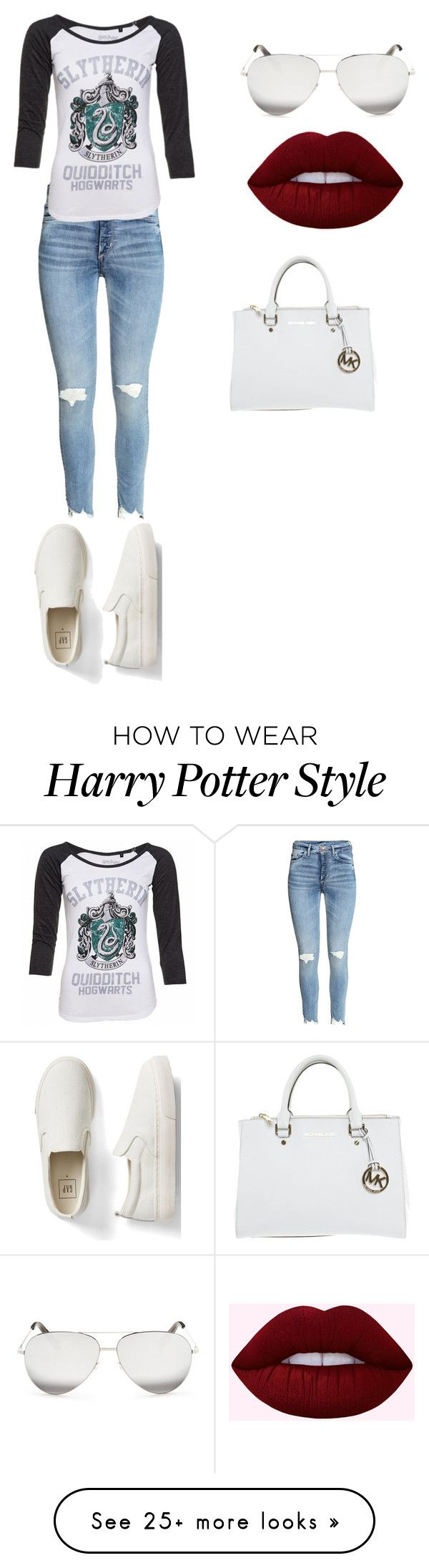 """""""#untitled"""" by miss-ooko on Polyvore featuring Gap, Victoria Beckham and Michael Kors"""