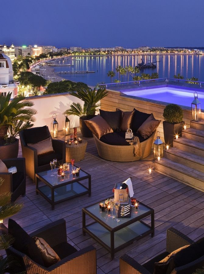 Hotel Majestic Barrière, Cannes, France - What a view of the Mediterranean.