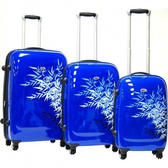 calpak bangkok 3pc blue floral luggage set