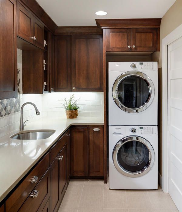 laundry room cabinets stackable washer dryer