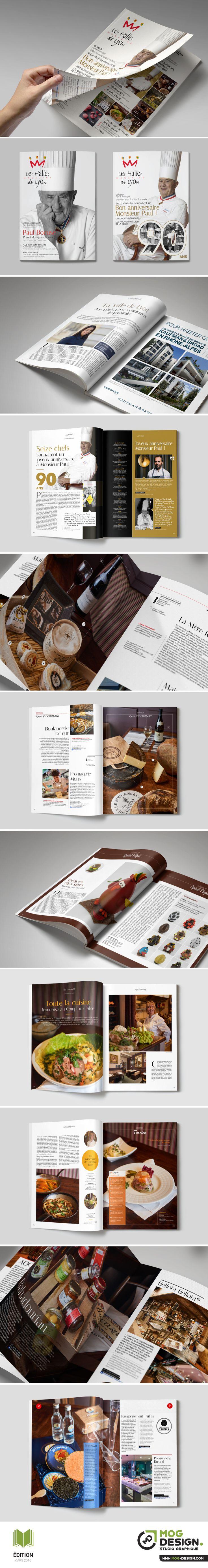 Magazine des Halles de Lyon Paul Bocuse. Charte graphique Octobre 2015. Maquette + Mise en page : MOG DESIGN