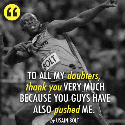 Ussin Bolt is so cool. A role model and a legend.
