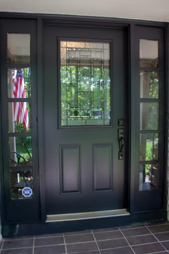 Replacing Our Front Door And Storm Door Traditional Front Doors Exterior Door Designs Black Exterior Doors