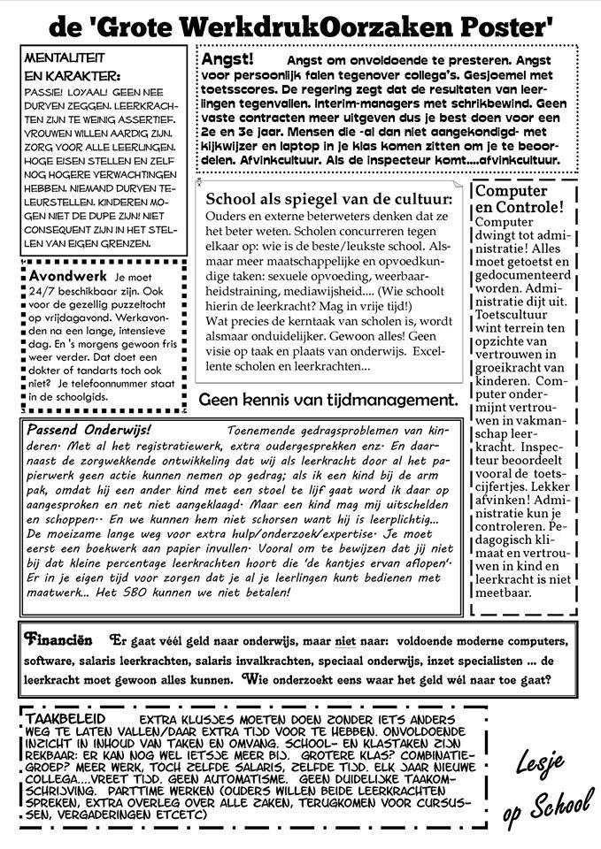 Werkdruk oorzaken poster