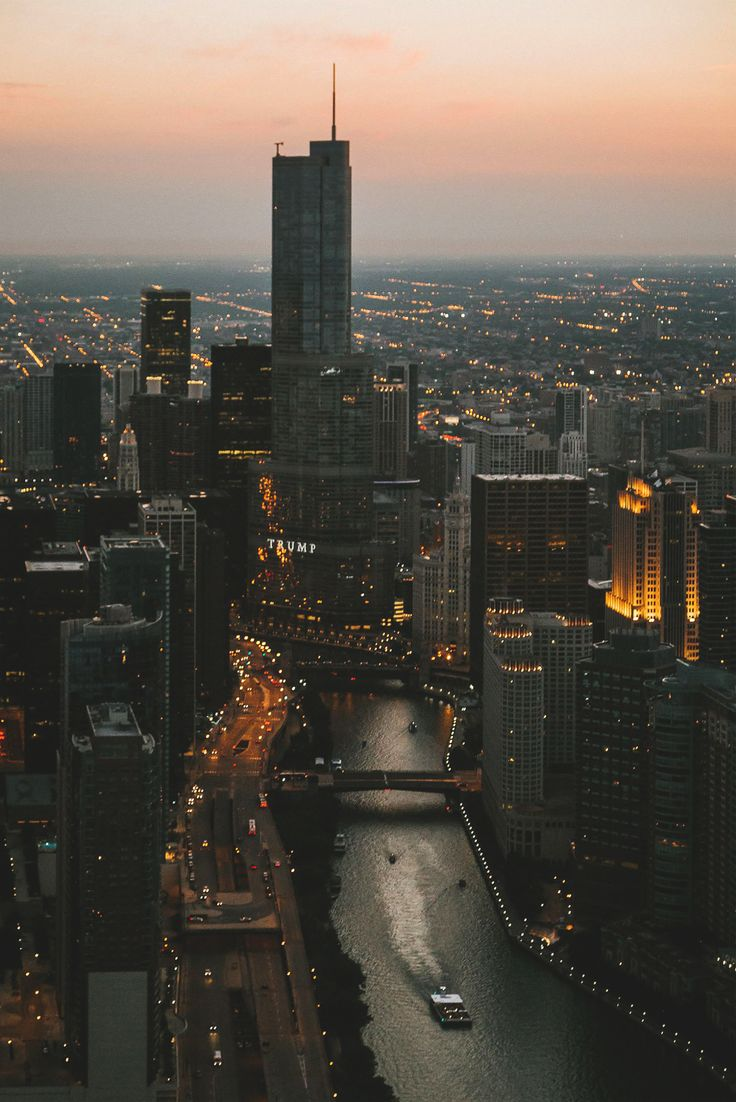 Chicago at sunset By Blake Pleasant . Pinned by #CarltonInnMidway - www.carltoninnmidway.com