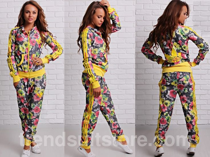 Article CDF00077 #floral #zipup #tracksuit Order of this product only by wholesale catalog at our website.Stylish womens floral zipup tracksuit bottoms.