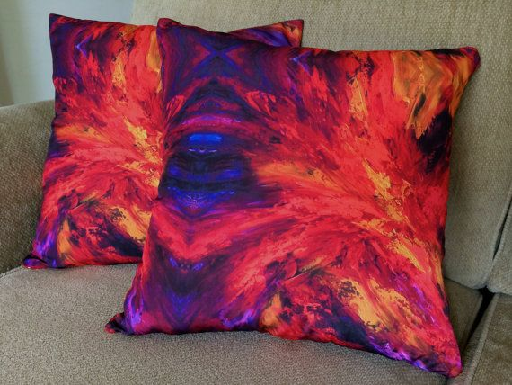 Furious Love: Cushion | Handmade | Art Design | $65 http://coloursofhope.com.au/store?category=cushion