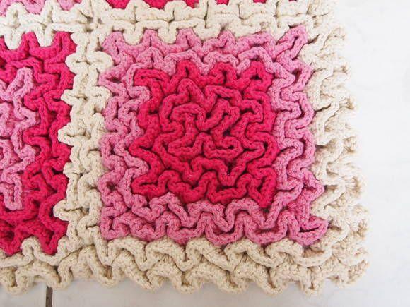 Tapete labirinto em crochê - Passo a passo com gráfico - Arteblog