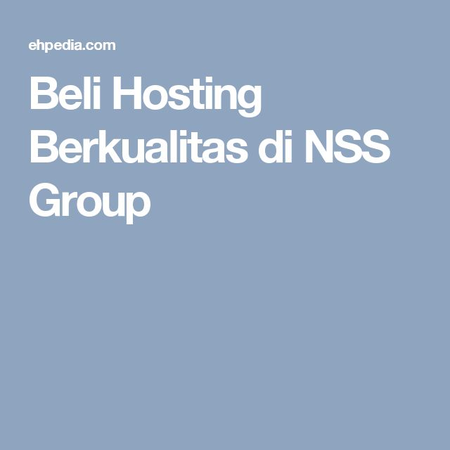 Beli Hosting Berkualitas di NSS Group