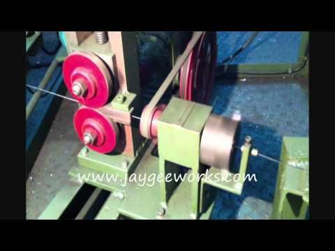 Jay gee works - wire straightening,cutting,grinding machine - YouTube