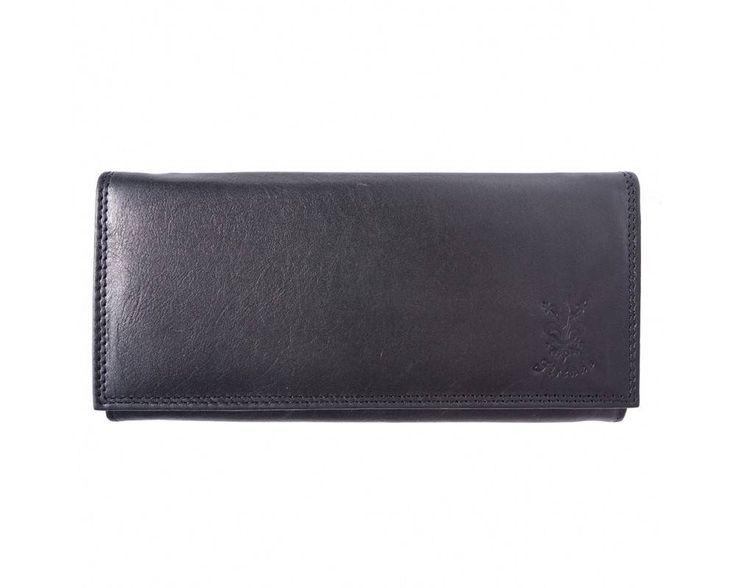 - Zacht kalf leder portemonnee in zwarte kleur