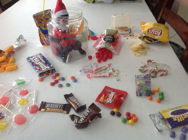 14 décembre: La petite tannante de Flocon a décidé de goûter à toutes les friandises qui restaient de Halloween! Gourmande!!