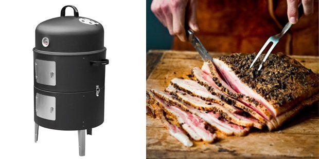 Mister Kitchen gaat aan de slag met Tiroler buikspek. Voor dit buikspek heb je o.a. een rookoventje bij nodig. Het Tiroler buikspek rook je dus zelf!