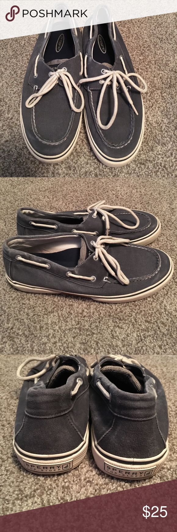 Men's Sperry Top Sider shoes Good condition lots of life left. Blue and white. Sperry Top-Sider Shoes Boat Shoes