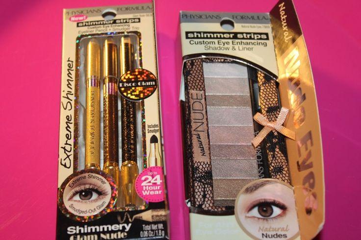 Physicians Formula Shimmer Strips Eyeliner Trio,Glam Nude 6636 & EYESHADOW #7869 #PhysiciansFormula
