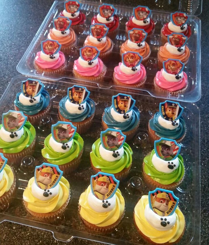 Paw Patrol Cupcakes … More