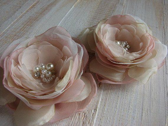 Champagne Haar Blume Blush Haar Blume Champagner Hochzeit Blush Hochzeit Blume…
