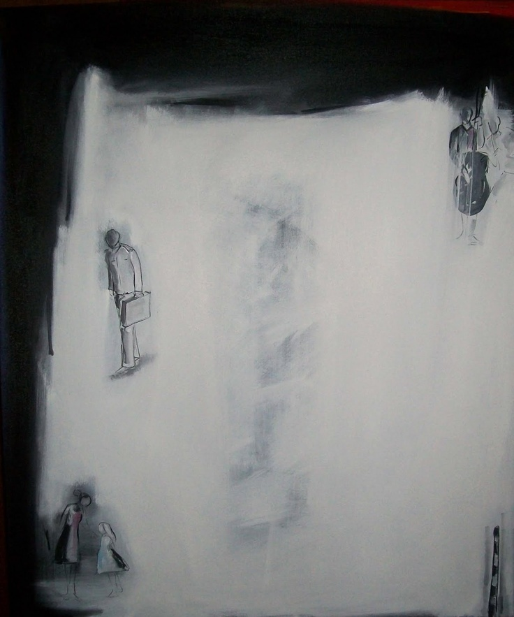 Alejandro Naranjo -Serie Lluvia - No 15 -  Urbe - Oil on canvas - 100 x 120 cm - 2010.