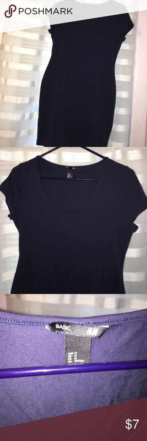 Basic mini dress Basic navy mini dress from h&m. Can be dressed up :) H&M Dresses Mini