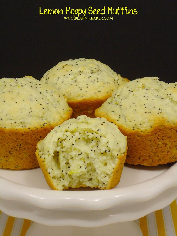 Lemon Poppy Seed Muffins | Super easy, super delicious, and as a bonus, loved by the child.