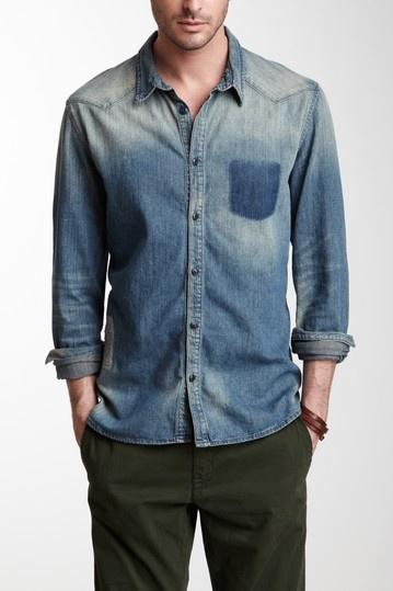 Mended Denim Shirt