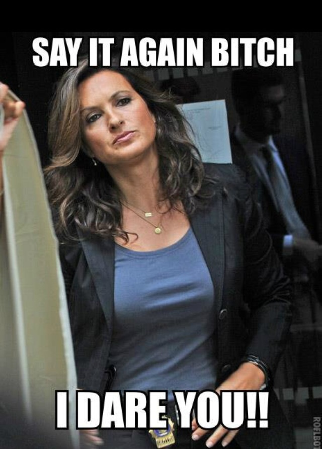 Funny meme! That look on Olivia's face, whew!