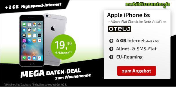 iPhone 6s mit Vertrag günstig bestellen - Telekom, Vodafone & o2 Angebote
