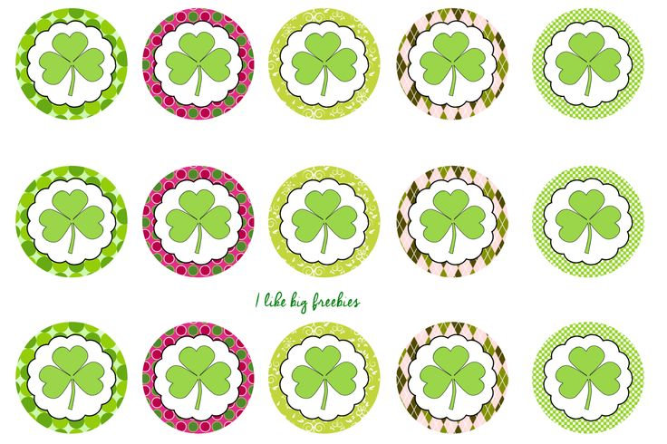 St. Patricks Day bottlecap images/cupcake toppers