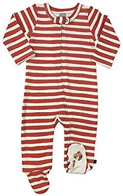 a58e56f47c Amazon.com  Finn + Emma Emily Winfield Martin Organic Cotton One-Piece  Footie Sleeper for Baby Boy or Girl - 3-6 Months