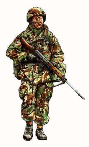 Soldado,3er Batllon Paracaidista,Islas Malvinas 1982
