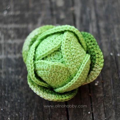 Вязаная капуста. Crochet cabbage.
