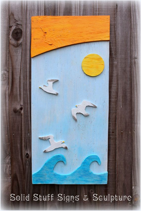 Waviation  Hand Painted Wood Sign Wall Art on by SolidStuff, $40.00
