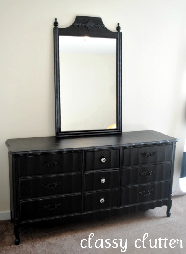 Black And Zebra Dresser Makeover