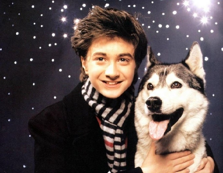 Daniel Radcliffe and his doggie