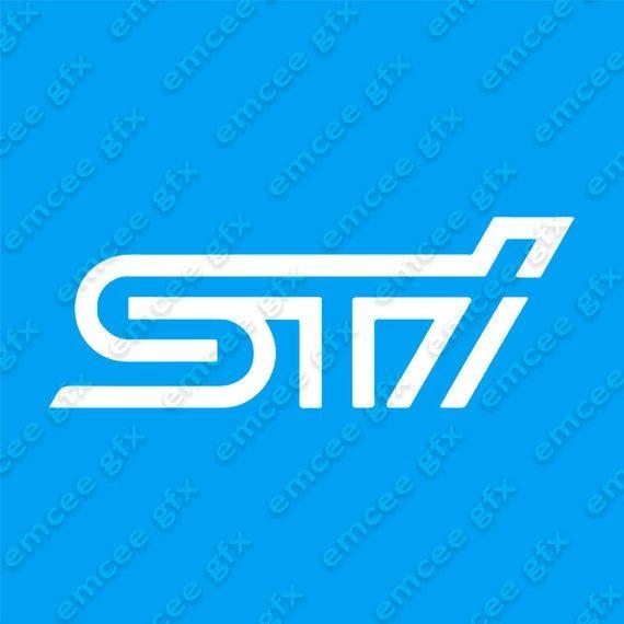Subaru Sti Logo Vinyl Decal 8w X 2 9h Etsy Vinyl Decals Subaru Sti Subaru