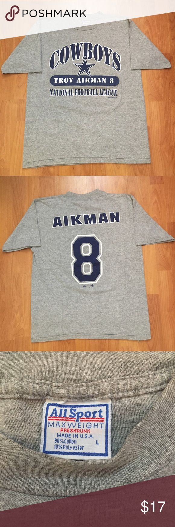 Vintage, 90s Dallas Cowboys Troy Aikman Tshirt Vintage, 90s Dallas Cowboys Troy Aikman National Football League Tee. In great condition! Shirts Tees - Short Sleeve