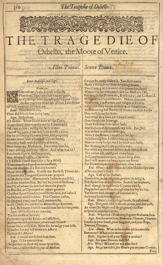 human weaknesses portrayed in william shakespeares othello William shakespeare  w shakespeare hamlet (i llustration from eugene delacroix) william shakespeare english author shakespeare also spelled shakspere, byname.