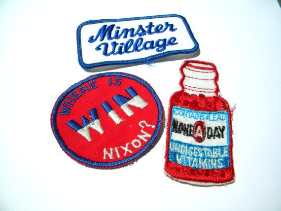 'Vintage Patches' is going up for auction at 12pm Sat, Jul 21 with a starting bid of $4.