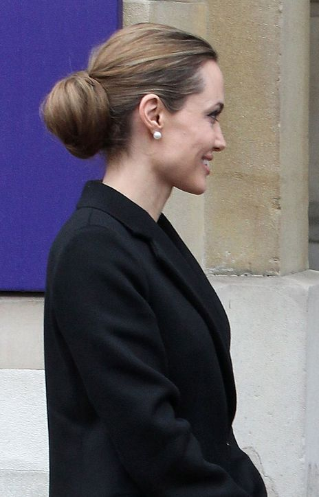 Oh, Hi, Audrey Hepburn...I Mean Angelina Jolie. Love Your Hair and Makeup!