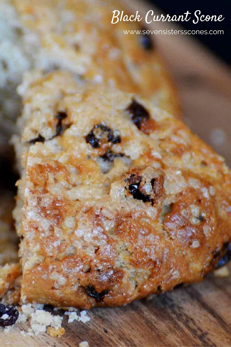 Flavored with black currant juice, this scone has black currants layered through the scone.