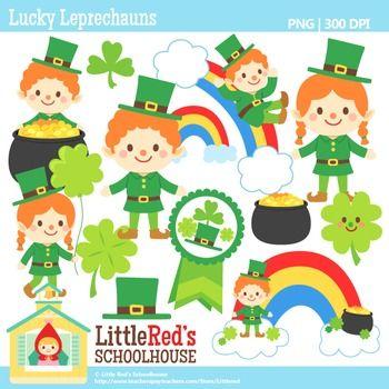 Clip Art - Lucky Leprechauns - holiday-themed clipart $