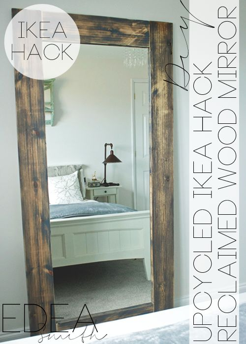 25 best ideas about ikea mirror hack on pinterest ikea for Homemade mirror frame ideas