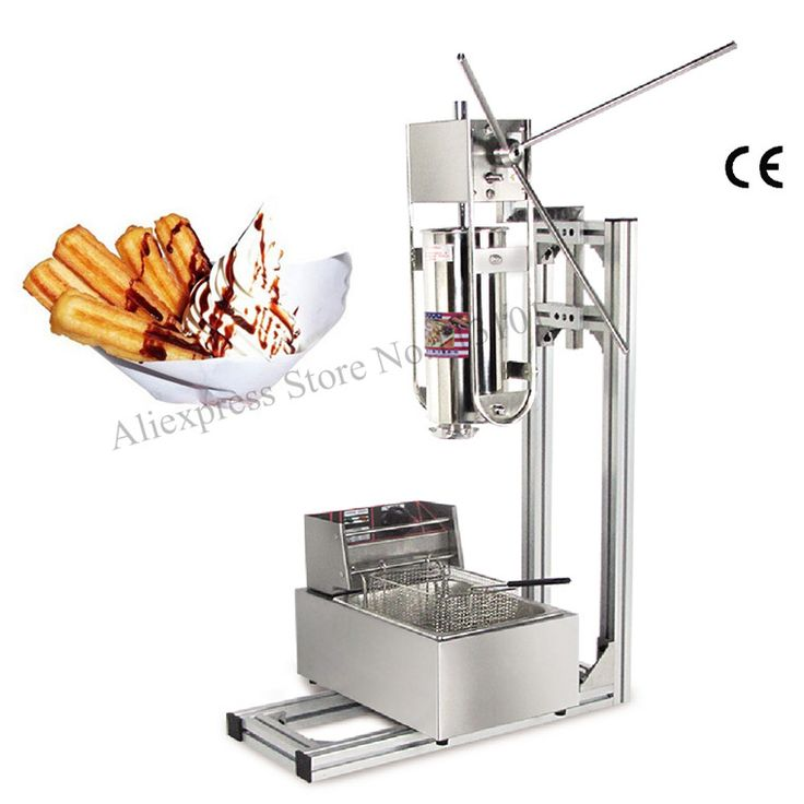 Commercial Deluxe Stainless Steel 5L Churro Machine   6L Electric Fryer, Manual Spanish Churros Maker Capacity Five Liters
