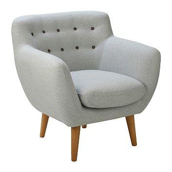 Briscoes - Clayton Lounge Chair Grey