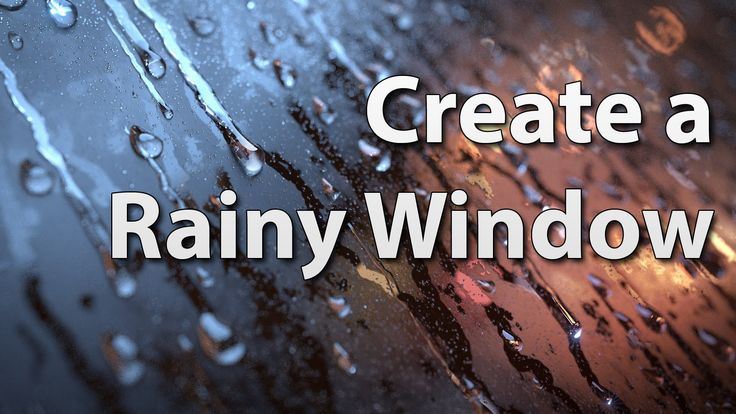 How to Make a Rainy Window in Blender