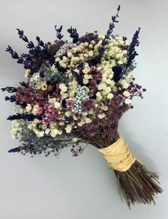 Wedding Bouquets Are Made Up Of Various Dried And Preserved Flowers Pink Purple And White Hydrang Fresh Flower Bouquets Dried Flower Bouquet Wedding Bouquets